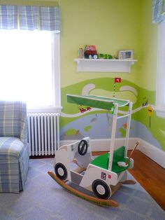 cutest golf nursery! #lorisgolfshoppe