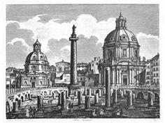 Foro Traiano, area archeologica della Basilica Ulpia - Luigi Rossini
