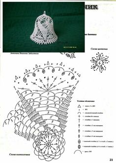 Witam:) To co wczoraj zobaczyłam na swojej tablicy na FB S - SalvabraniCrochet Patterns Christmas Photo only. No pattern - Salvabrani - SalvabraniAnges au crochet Plus - SalvabraniCrochet Bell About tall with threadLearning to knit crochet bells on Crochet Diagram, Crochet Chart, Thread Crochet, Crochet Motif, Diy Crochet, Crochet Flowers, Crochet Snowflake Pattern, Christmas Crochet Patterns, Holiday Crochet
