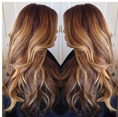 Blonde and brown color