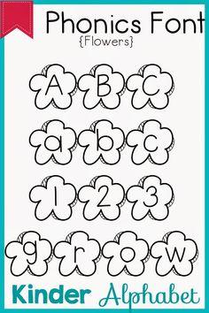 32 Phonics Fonts for Teachers Teacher Fonts, Teaching Materials, Phonics, Kindergarten, Preschool, Silhouette, Math, Words, Crafts