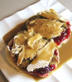 For the Love of Cooking » Open Faced Turkey Sandwich - omg!   For after Turkey Day!!!  I'm gonna gain all my weight back!!!!  Lol
