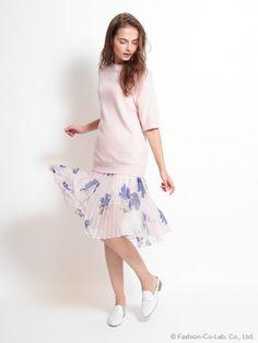 snidel(スナイデル)通販  シフォンプリーツスカート