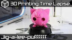 3D Printing Time Lapse | Jigglypuff Pokemon | Airwolf 3D HDX 3D Printer ...