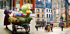 Essas fotografias feitas há um século mostram uma Paris deliciosa e colorida