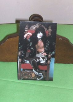 Paul Stanley of KISS band Table Tent Card 1977