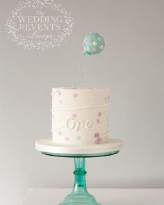 First birthday cake Modern simple cake for boys or girls