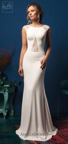Amelia Sposa Wedding Dresses 2019 - Belle The Magazine Short Wedding Gowns, Wedding Dress Prices, Wedding Dress Gallery, Wedding Dress Shopping, Best Wedding Dresses, Bridal Dresses, Amelia Sposa Wedding Dress, Amazing Wedding Dress, Glamour