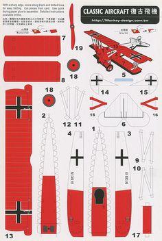 Classic Aircraft - Cut Out Postcard
