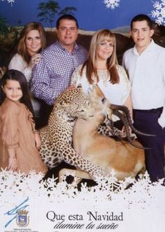 Nope. Nothin' says Merry Christmas quite like a leopard kill.