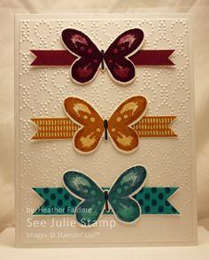 See Julie Stamp - Julie Wadlinger, Stampin' Up! Demonstrator : Swap: Cards in the Mail | Watercolor Wings