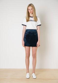 Twenty-Seven Names - Helene Velvet Mini - Teal Velvet Funny Dresses, I Love Fashion, Fashion Styles, Minimalist Dresses, Standing Poses, Velvet Skirt, Korea Fashion, Mode Inspiration, Short Skirts