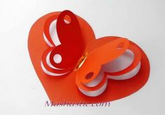 Valentine's Day Paper Crafts, Diy And Crafts, Kirigami, Valentine Crafts, Valentines, Fly Paper, Heart Diy, Kid Experiments, How To Make Paper Flowers