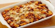 Baked Rigatoni with Beef Smartpoints: 6 - weight watchers recipes
