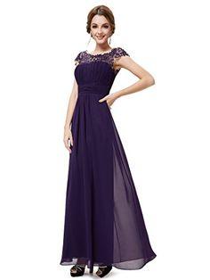 Ever Pretty Womens Cap Sleeve Formal Wedding Guest Dress ...