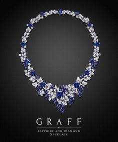 Graff Diamonds: Sapphire and Diamond Necklace