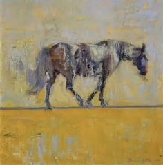 """Painter Quang Ho's """"Lone Horse -- Yellow"""""""