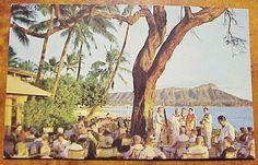 1960's Halekulani Hotel Terrace Waikiki Hawaii Nani Li'i S-157 For Sale • PicClick