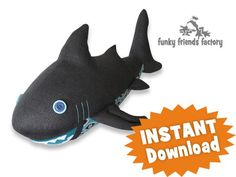 Sammy the Shark INSTANT DOWNLOAD Sewing Pattern PDF