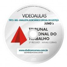 VIDEOAULAS TRT3 MG ANALISTA JUDICIARIO E OFICIAL DE JUSTIÇA 2014 3 DVDS