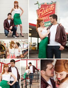 Ali and Chris '50s inspired engagement