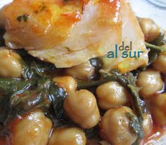 La cocina malagueña-Alsurdelsur: Potaje de garbanzos, bacalao y acelgas