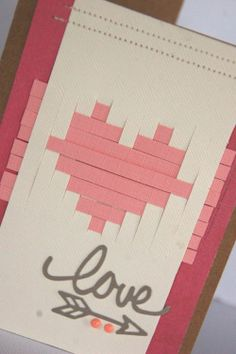 "Valentine's ""love"" card by Kimber McGray"