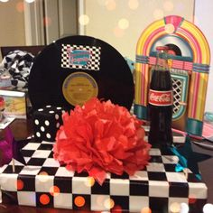 50's theme centerpiece birthday 1950's