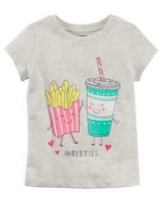 Toddler Girl #Besties Jersey Tee from Carters.com. Shop clothing & accessories from a trusted name in kids, toddlers, and baby clothes.