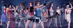 the ladies of the resident evil series. only the ones from the numbered series, so no alexia ashford, no manuela hidalgo, and none of the outbreak chara. ladies of evil Assassin's Creed Black, Assassins Creed Black Flag, Julia Voth, Resident Evil Collection, Albert Wesker, Resident Evil Girl, Ada Wong, Jill Valentine, Game Character