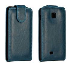 Wall Street (Mørkeblå) LG Optimus F5 Læderetui