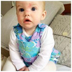 Look at this cutie wearing one of my bubble rompers in such a great fabric! Thanks for the picture Sarah . These rompers are all sold out now but lots of other vintage fabric options in the Etsy shop.  There are only about two weeks left to get your orders in actually... I close the shop on the 28th April for um... ages! I'll be a bit busy on maternity leave