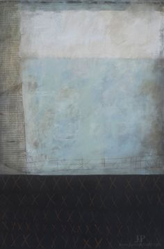 Mixed media on stretched canvas; large