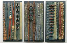 Vicki Grant_ Ceramic and mixed media Vessels and Ceramic and mixed media Tiles_ Blue Spiral 1_ Asheville NC