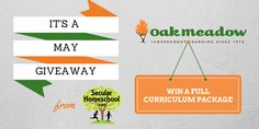 Exciting news for May. Enter to win a complete Oak Meadow curriculum package at SecularHomeschool.com!