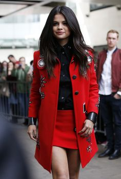 red coat @roressclothes closet ideas #women fashion outfit #clothing style apparel