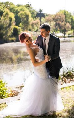 Organised wedding photo shoot. Photography by Tess Gabrielle Photography. HMUA by A'Dore Design by Danielle Sartori. Dress by Denise Wright Bridal. Models are Matt and Caitlin