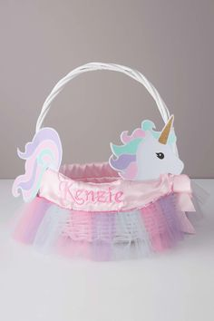 Easter Basket & Personalized Unicorn Liner | Chasing Fireflies
