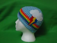 My Little Pony Rainbow Dash Beanie by OneFineCrafternoon on Etsy, $15.00