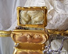 Vintage Art Nouveau Footed Jewelry Casket by cynthiasattic on Etsy, $79.00