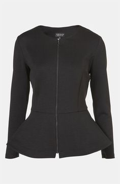 Topshop Peplum Jacket | Nordstrom - i think this belongs in my closet this season.... that is all...