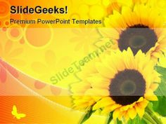 Sunflower Abstract Beauty PowerPoint Template 0810 #PowerPoint #Templates #Themes #Background
