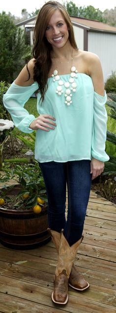 Blouse: Monica's Closet Essentials Jeans: Kohls Boots:  Cavender's Boot City Necklace: Monica's Closet Essentials