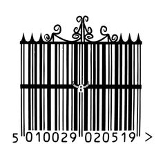 barcode art wrought iron gate by ~SharpieFiend on deviantART