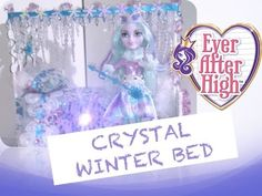 This is a custom bed for Ever After High's Crystal Winter, the Special Edition doll from the Epic Winter line. For my other Ever After High doll beds, check . Cool Minecraft Houses, Minecraft Skins, Minecraft Buildings, Monster High Beds, Hama Beads Minecraft, Perler Beads, Little Live Pets, Fairy Coloring Pages, Doll Beds