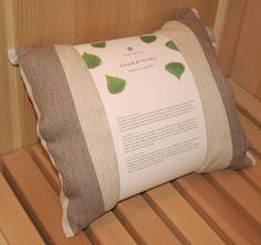 Sauna Pillow - 9.5x11 (Brown Stripes) #Saunas.com