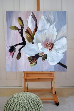 A Mantis Compos-Twin Evaluate - Improved Composting While In The City Setting Awakening Jenny Fusca Paintings Sydney Artist Acrylic Painting Flowers, Abstract Flowers, Acrylic Art, Lotus Flowers, Arte Floral, Painting Inspiration, Painting & Drawing, Painting Steps, Artist Painting