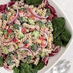 Find healthy, delicious pasta salad recipes including tortellini salad, Greek pasta salad and low-calorie pasta salad. Healthier recipes, from the food and nutrition experts at EatingWell. Tortellini, Penne, Healthy Pasta Salad, Easy Pasta Salad, Pasta Salad Recipes, Healthy Salads, Healthy Lunches, Healthy Food, Healthy Weight