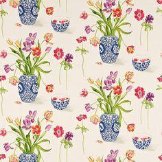 Sanderson A Painters Garden Fabric Collection DAPGPA203 DAPGPA203