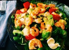 Easy Shrimp Salad for your pre-holiday healthy meal roundup!